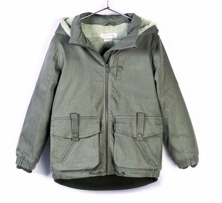KIDS Andorine Hooded Denim Coat - GREEN