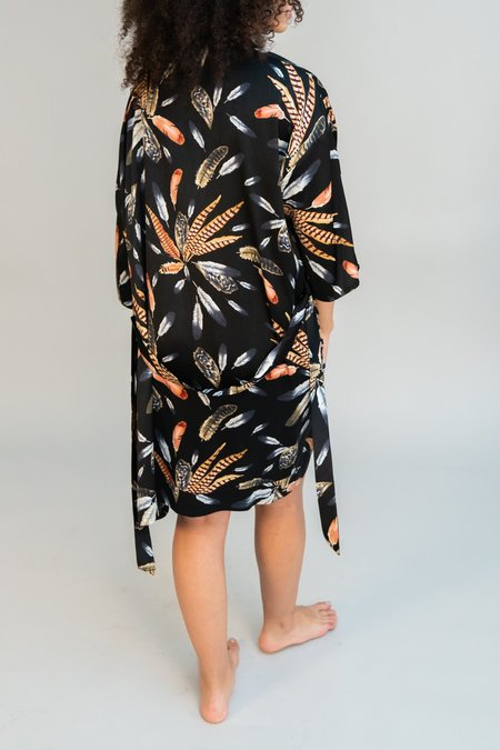 LoversLand Black Feather Robe