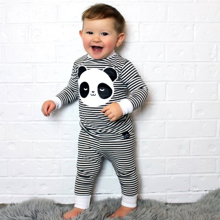 KIDS WHISTLE & FLUTE Kawaii Sleepy Panda Pajama Set
