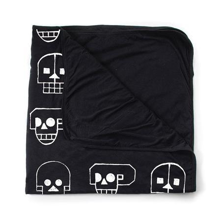 KIDS Nununu Large Skull Robot Blanket - BLACK