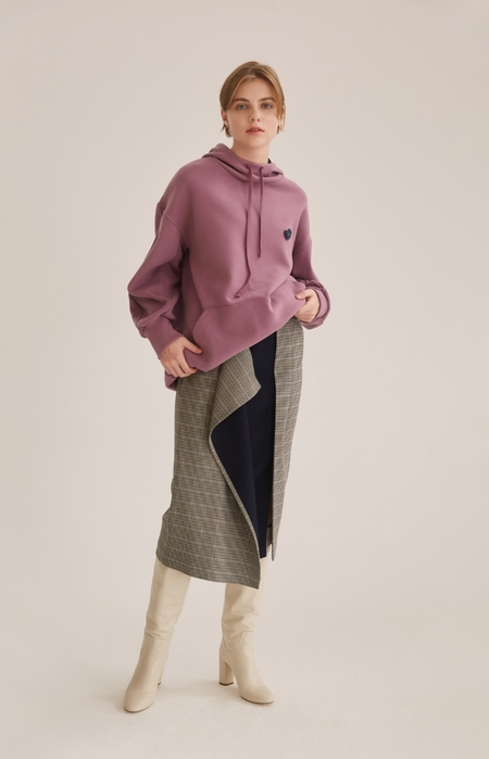 NUVO10 DOUBLE FACED Premium HOODIE - VIOLET