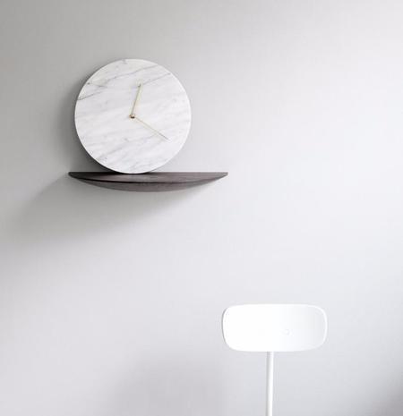Menu Marble Wall Clock - WHITE