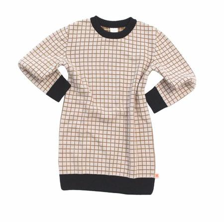 KIDS Tinycottons Oversized Grid Sweater