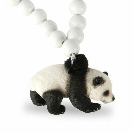 KIDS PIRATES & PONIES Panda Necklace - WHITE