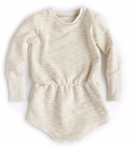 KIDS Telegraph Ave Puff Sleeve Romper - NATURAL