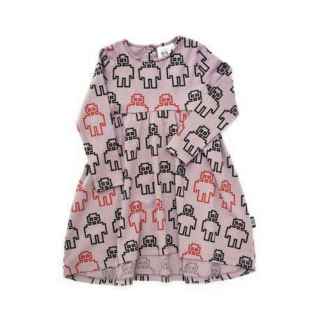 KIDS LITTLE MAN HAPPY Robot Longsleeve Dress - PINK