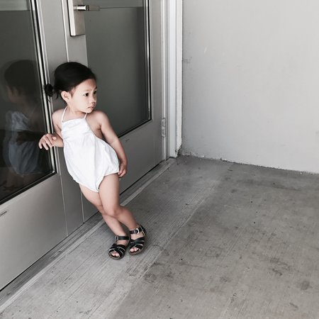 KIDS Belle Enfant Sienna Sunsuit - WHITE