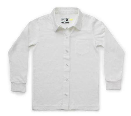 KIDS Nununu Snap Button Shirt - WHITE