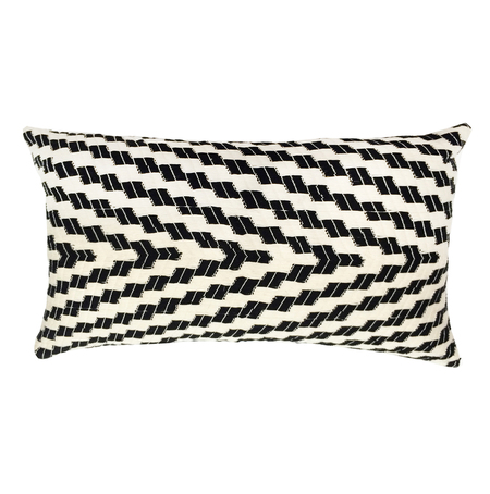 Archive New York Almolonga Zig Zag Pillow - Black & White