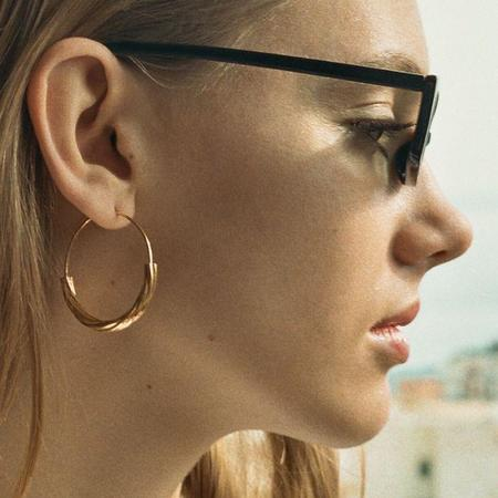 Maria Black High Polished Tove Medium Earrings - Gold