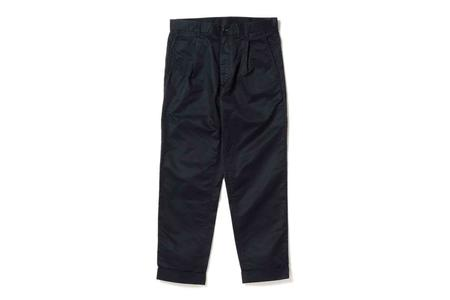 Beams + One Pleated Chino Pants - Navy