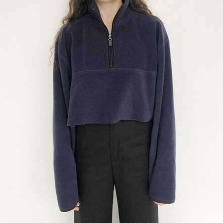 Vintage Johan Fleece Half Zip - Navy