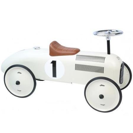 KIDS Vilac Vintage Metal Ride On Car - White