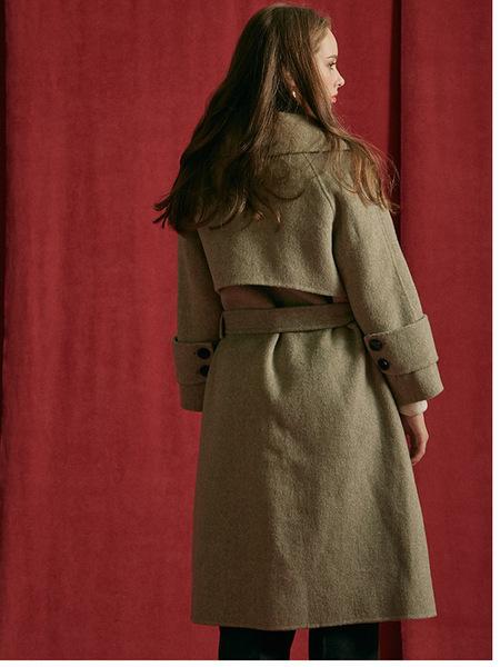 INUSWAY Handmade Double Coat - Khaki