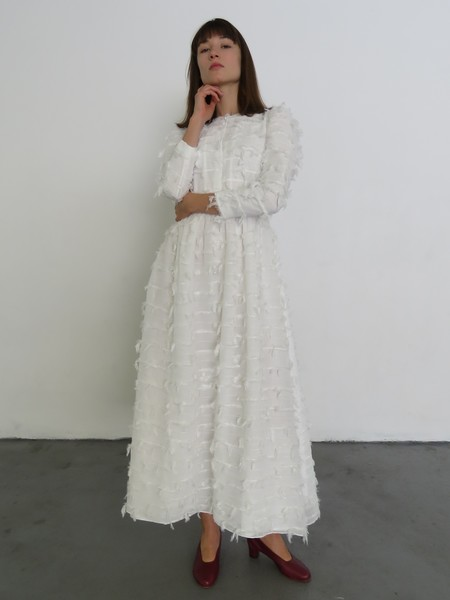 REJINA PYO QUINN DRESS - CHIFFON WHITE
