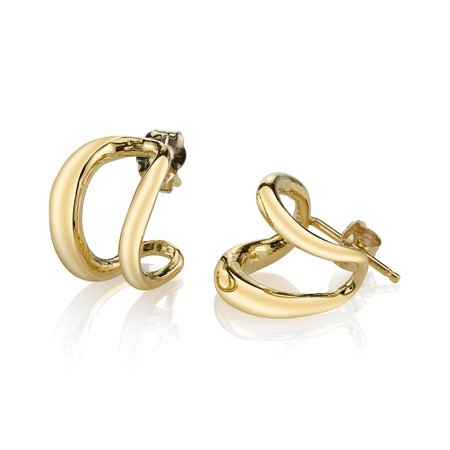 Gabriela Artigas Twin Tusk Earrings - Yellow Gold