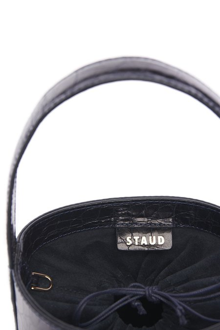 Staud Bissett Bag - Navy Croc