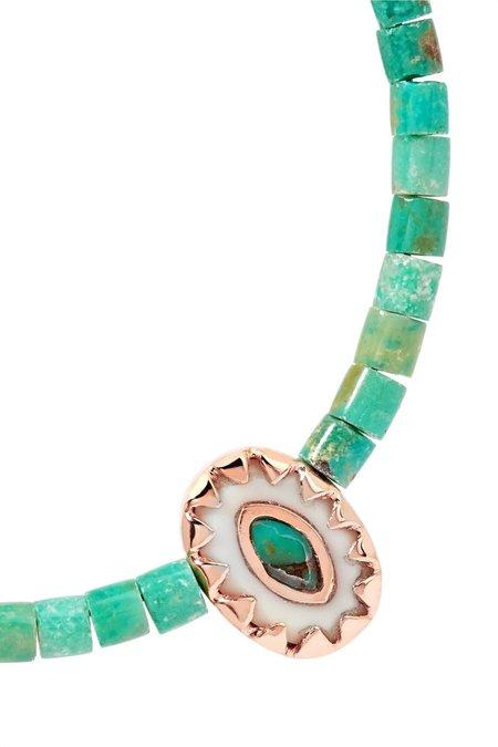 Pascale Monvoisin Montauk Anklet - Turquoise
