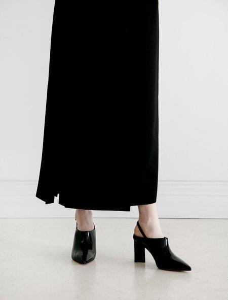 Robert Clergerie Kyra Spazzolato Heel - Black