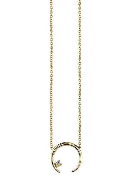 Gabriela Artigas Diamond on Mini Rising Necklace - Yellow Gold