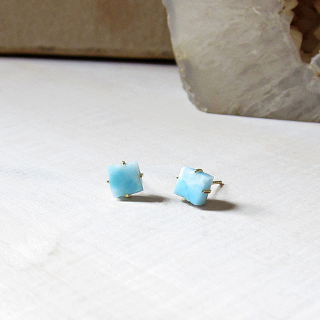 Robindira Unsworth Larimar Stud Earrings - Blue