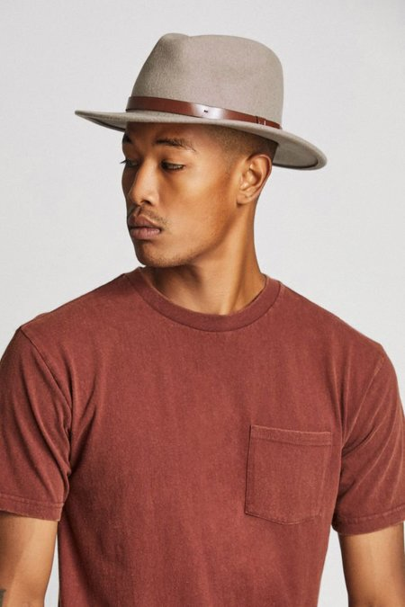 Brixton Messer Fedora - Heather Natural