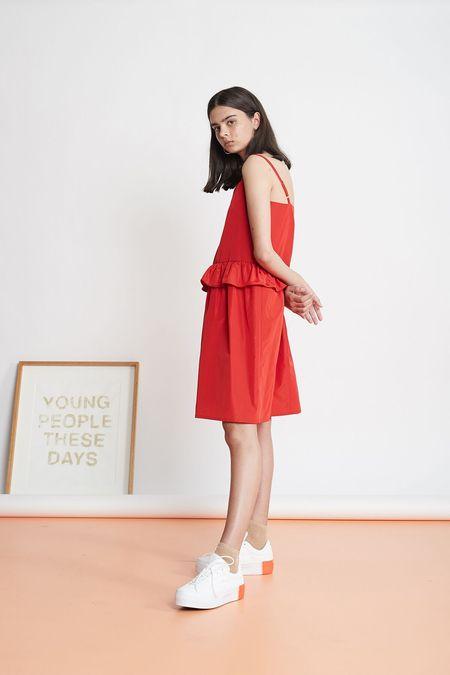 Twenty-Seven Names Little Kicks Taffeta Dress - Red