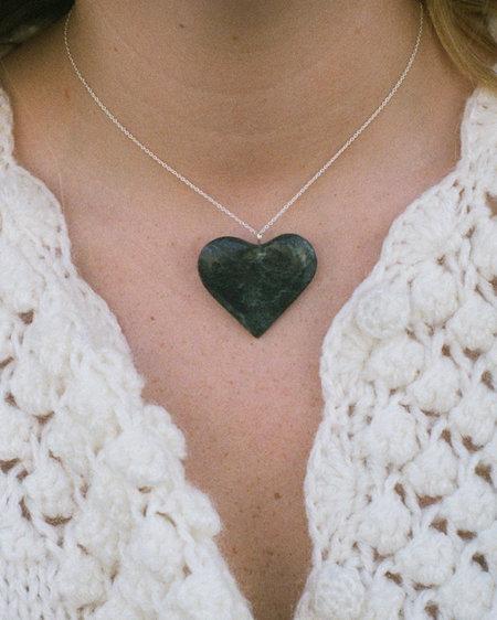 Peso Serpentine Heart Pendant