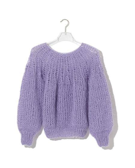 Maiami Mohair Pleated Sweater - Lavender