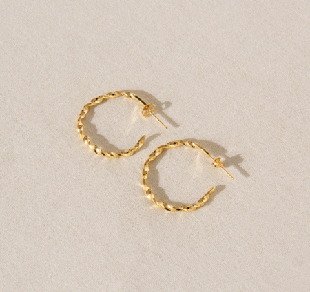By Nye Small Twisted Hoops