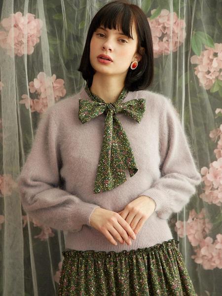 HACKESCH Romantic Tie Dress - Forest