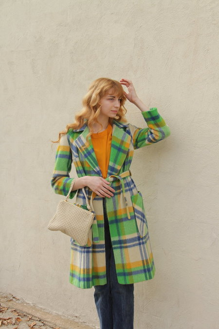 Vintage Evans Jacket - Green Tartan Plaid