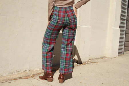 Vintage Pandora Plaid Bell Bottoms