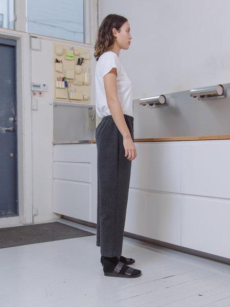 Priory Shop Stretch Poplin Bow Long Pant - Stonewash