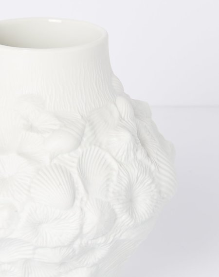 Covet + Lou Vintage Kaiser Shell Vessel - White