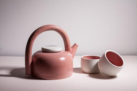 YYY Puff Teapot - Dark Peach/Taupe