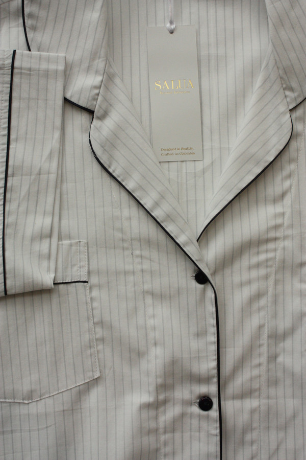 Salua Atelier  Classic Cotton Pajama (Short Sleeve Capri Length)