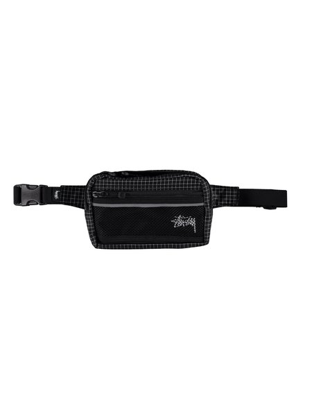 Stussy Ripstop Nylon Waist Bag - Black