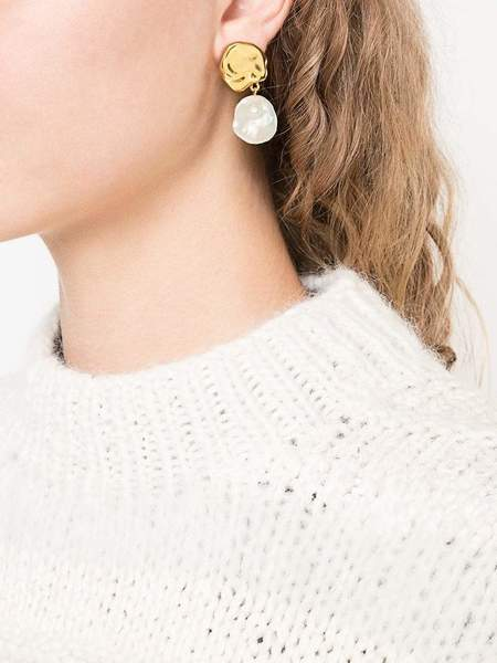 Lizzie Fortunato Coin Reflection Earrings - Gold
