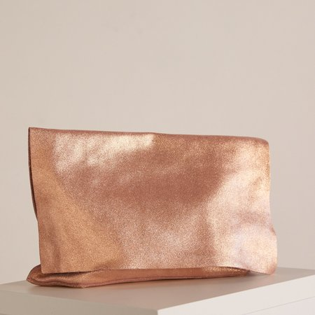 Tracey Tanner Carmen Flap Clutch - Rose Gold