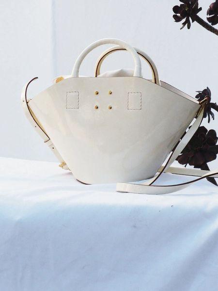 Trademark Patent Small Basket Bag - Cream