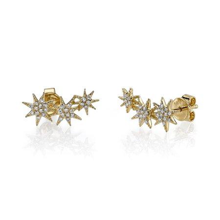 Gabriela Artigas Triple Star 14K Earrings - Gold