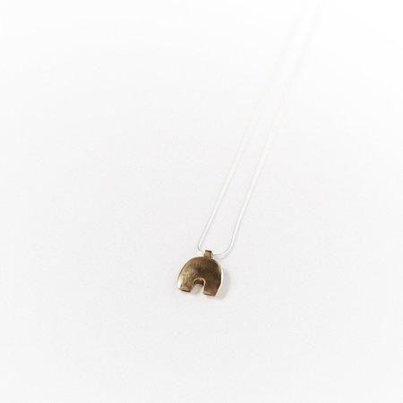 Kiki Koyote Dome Necklace - Brass