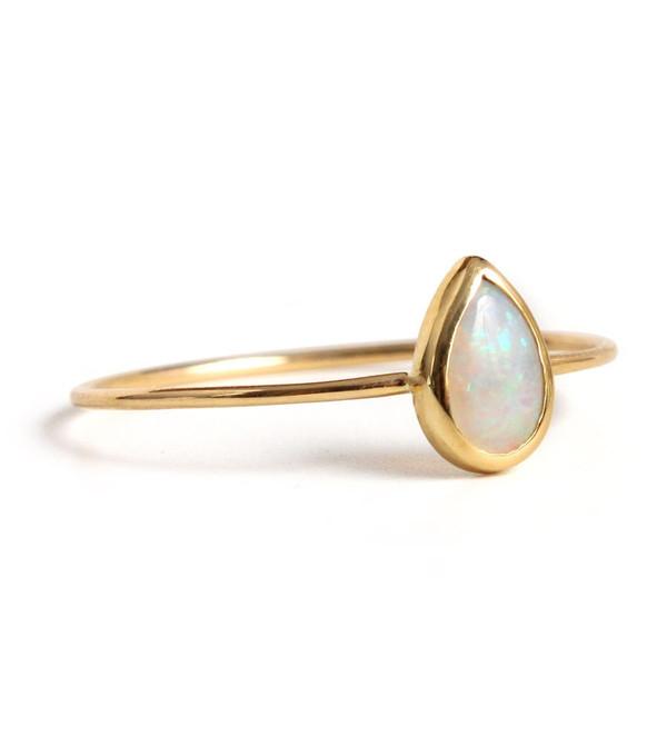Catbird Opal Teardrop Ring