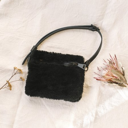 Your Bag of Holding Shearling Fanny Pack - Black