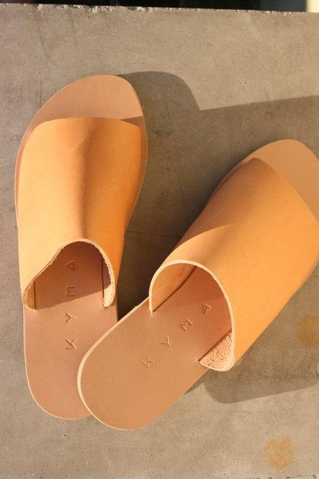 KYMA Kalymnos Open Toe Slides - Natural Tan