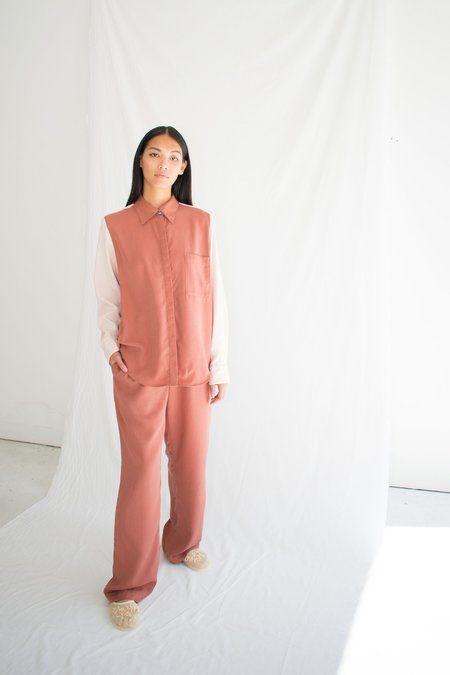 Soft Focus Lounge Shirt - Terracotta Blush