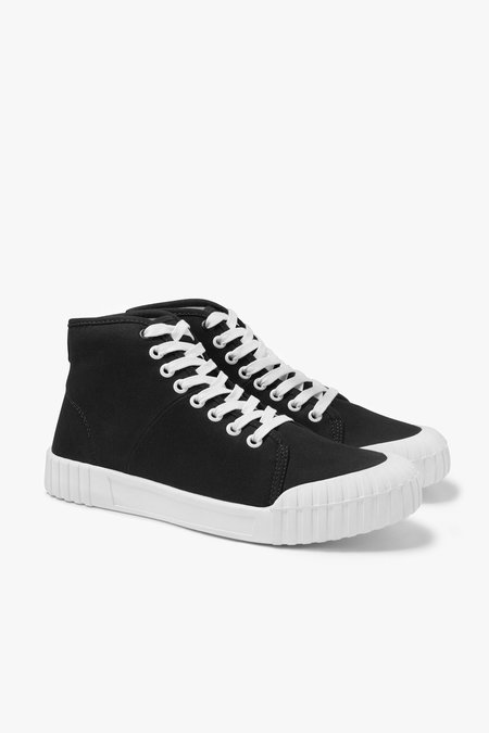 Good News Bagger Hi Cotton Canvas Sneakers - Black