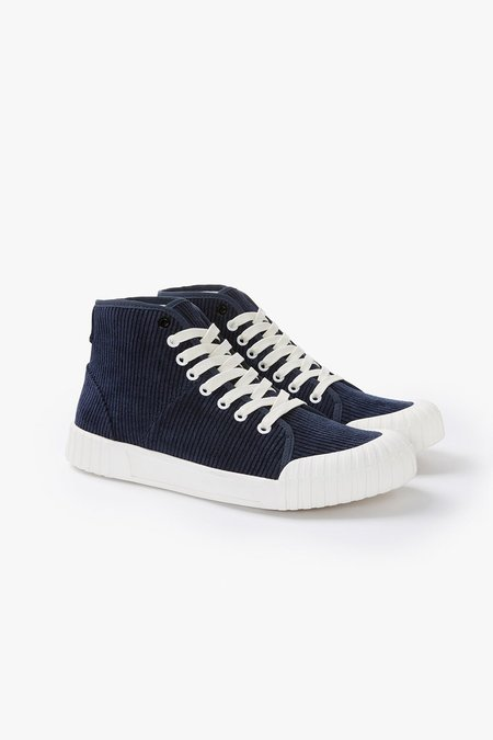 Good News Rhubarb Hi Organic Corduroy Sneakers - Navy