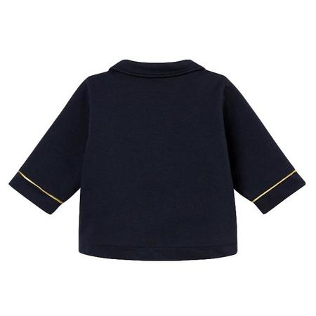KIDS Petit Bateau Baby Double Breasted Coat With Gold Buttons - Navy Blue